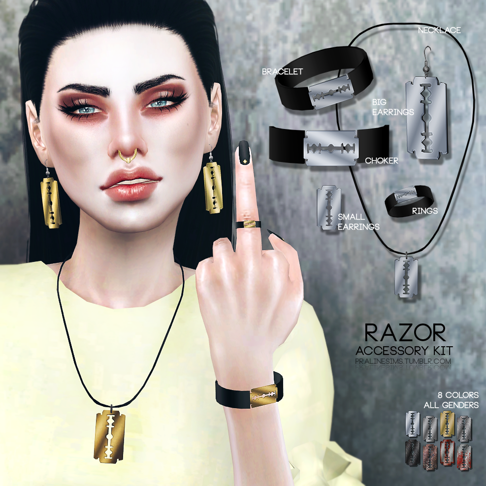 The sims 4 hair accessories - Sims 4 Cc S The Best Razor Accessory Kid By Pralinesims