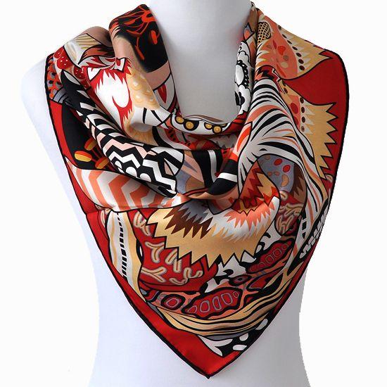 Fashion Womens Silk Scarf Designer Brand 100 Silk Twill Square Scarf Shawl 90cm Floral Print Vintage Jpg 550 55 Silk Scarf Style Fashion Designer Silk Scarves