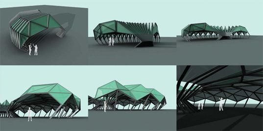 The Origami-Inspired Folding Bamboo House re:construct design ...