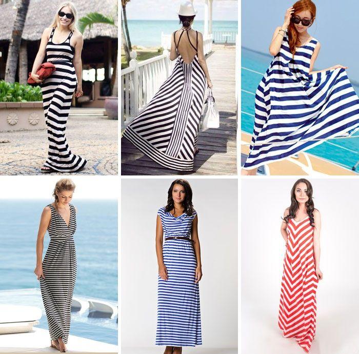 e67503cebaf52c6 Трикотажные платья в полоску: морской стиль   Dresses   Платье в ...