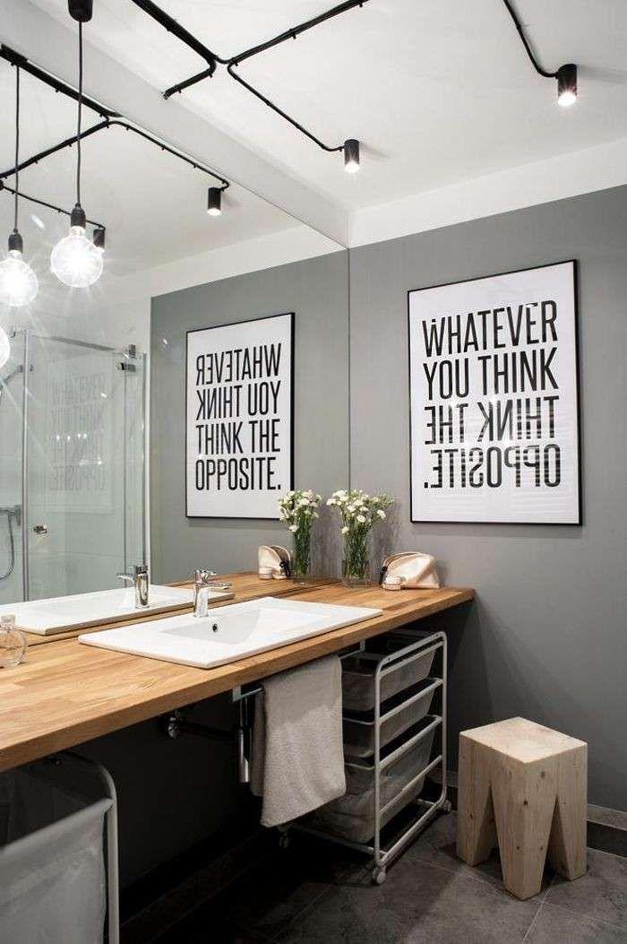 Idee per decorare le pareti del bagno stampa in bagno - Stampe per bagno ...