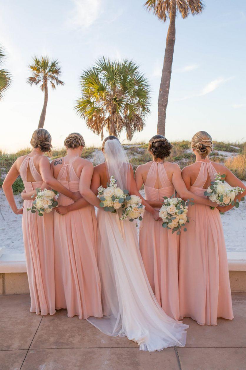 Elegant Blush Pink and Gold Rooftop Wedding Beach