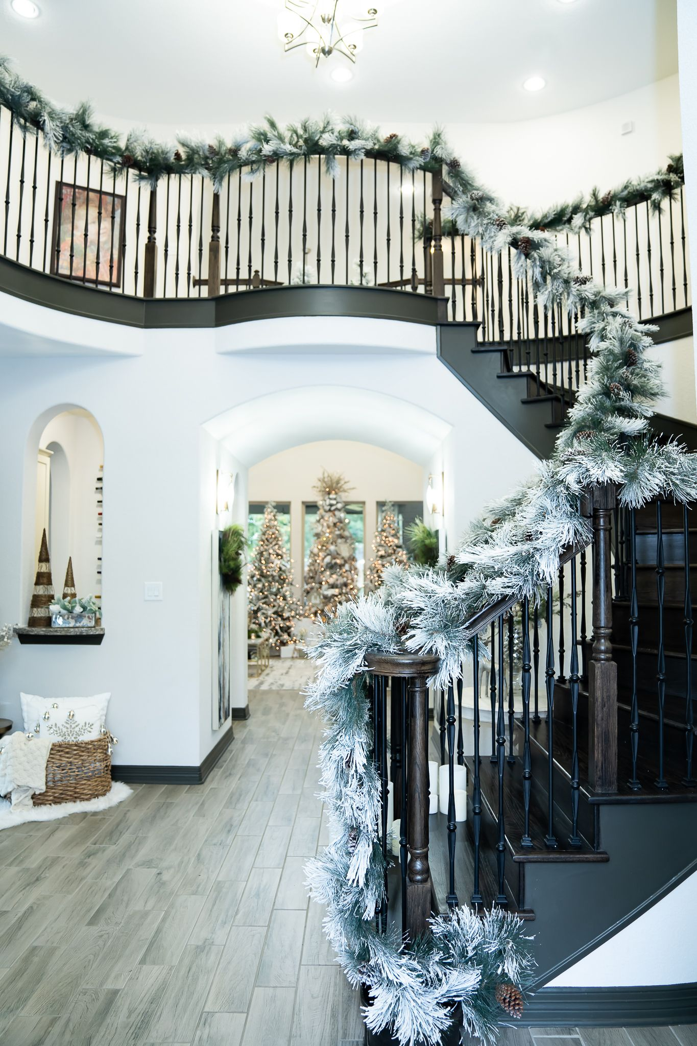 Christmas home tour how to decorate like  pro using garland also rh pinterest