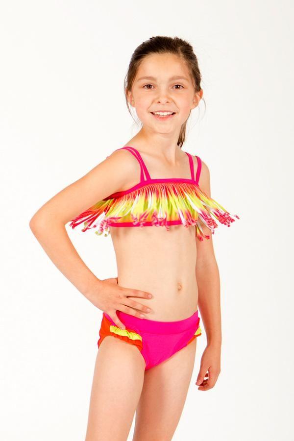 026b6ad34c Halia Fringe Bikini with UPF 50+ sun protection by the  1 Tween brand  limeapple