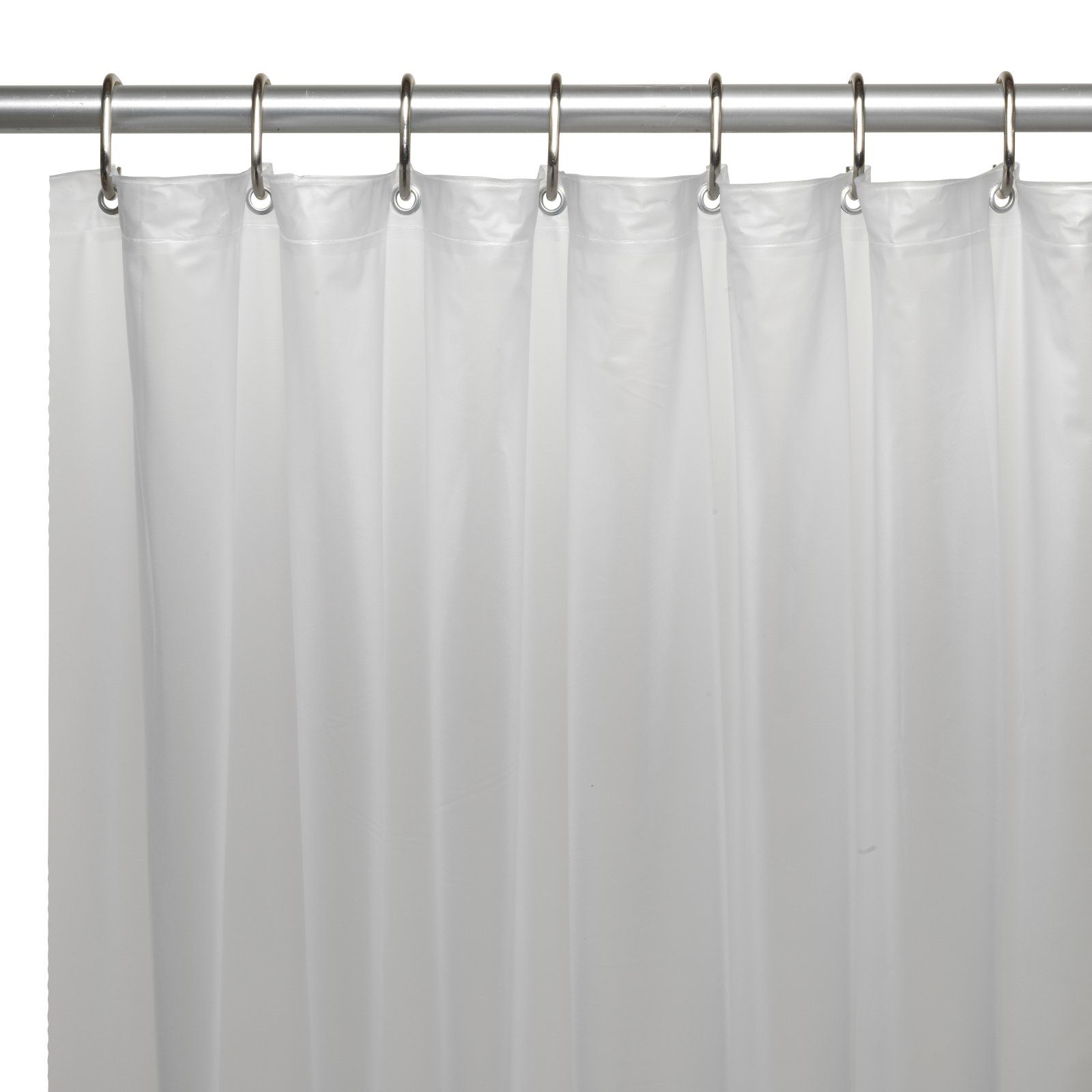 Carnation Home Fashions Premium Vinyl Shower Curtain Liner With