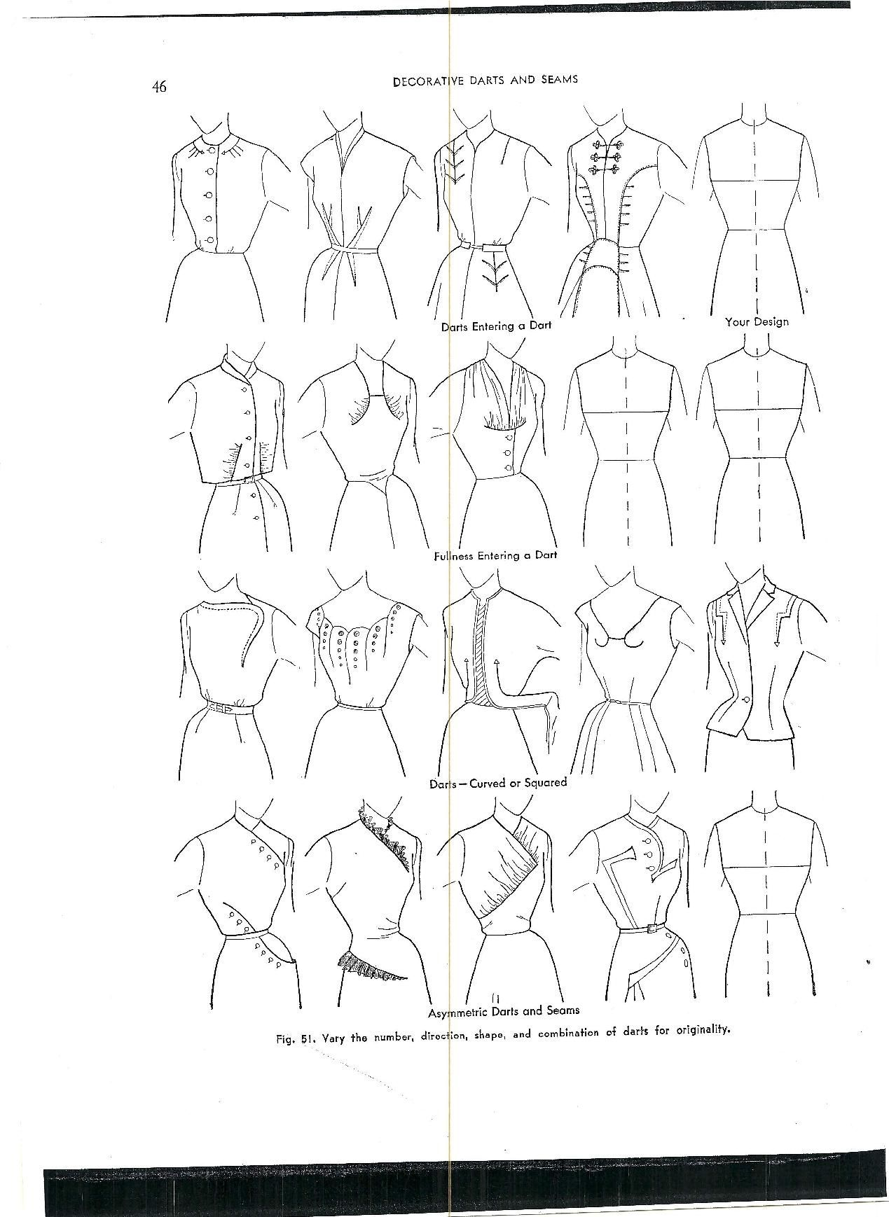 Decorative Darts Sewing Patterns Pattern Pattern Making
