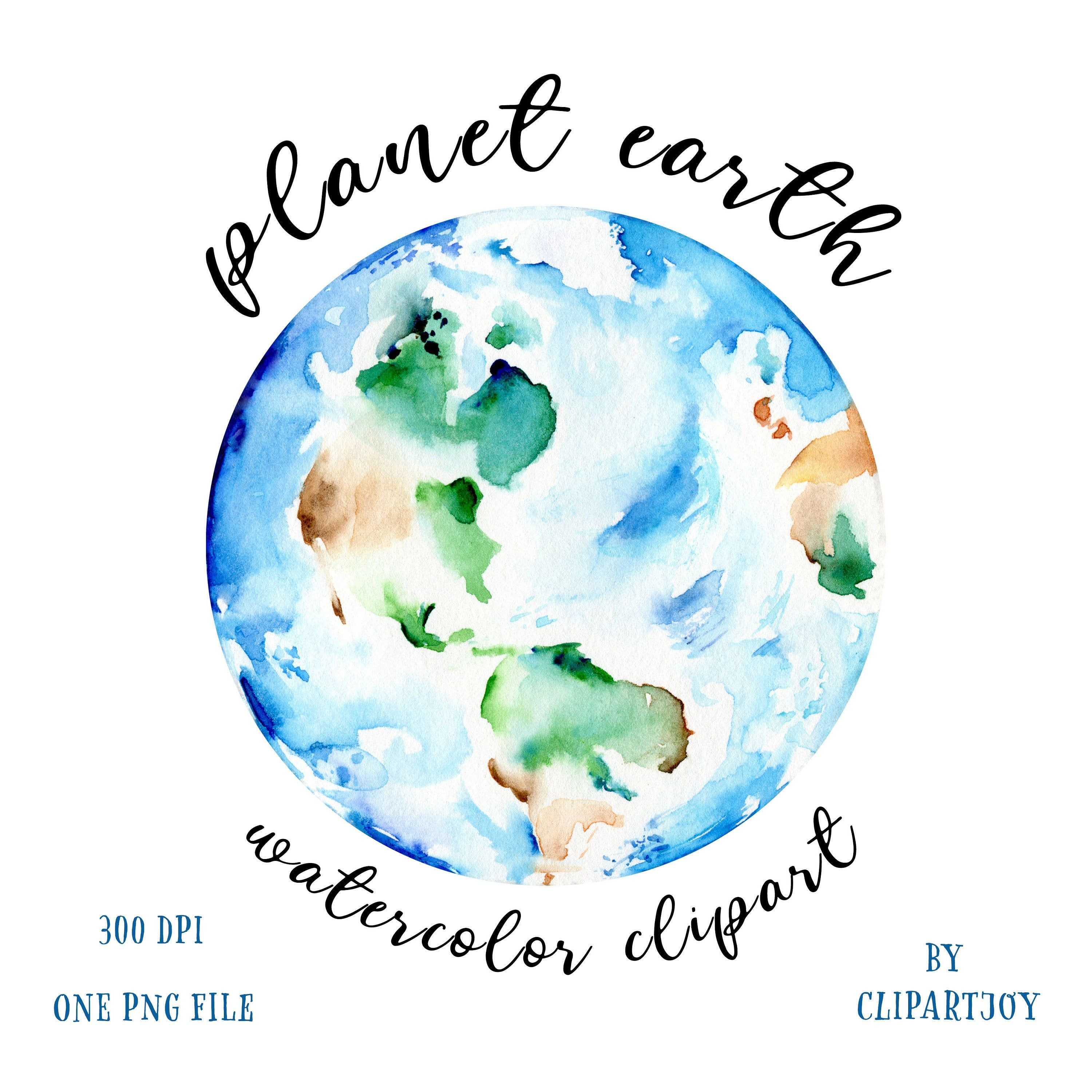 Earth Clipart Watercolor Graphic Of Globe Handpainted Artwork Of Planet Earth Png Digital Download Commercial Use In 2020 Watercolor Graphic Earth Clipart Clip Art