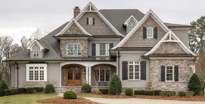 Stone Houses Look Gorgeous, They Are Like Palaces The History Of The Past.  Here We Presents To You Some Pictures Of Beautiful Stone Exterior House  Designs,