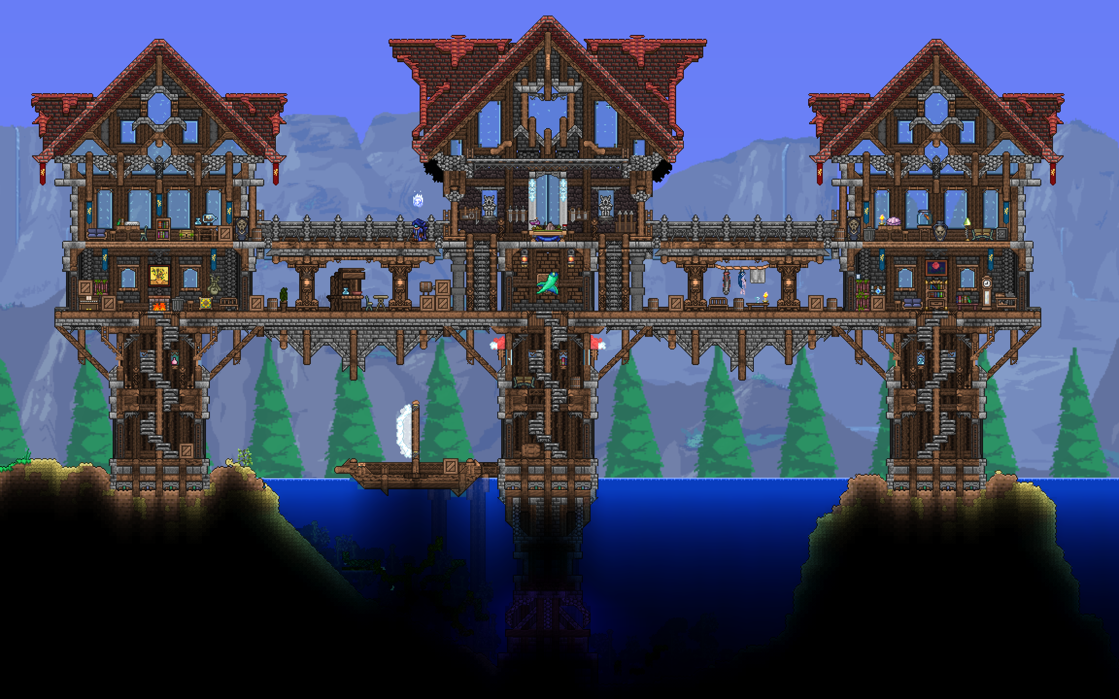 Imgur The Magic Of The Internet Terraria House Design Terraria