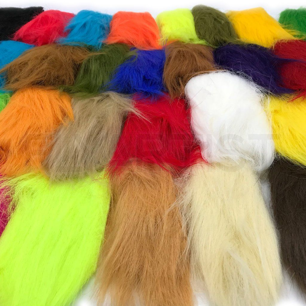 HARELINE FISHAIR FIBERS FLY AND JIG TYING YOU PICK COLOR