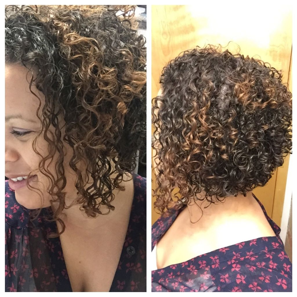 Curly Hair Angled Bob Haircut Perms In 2018 Pinterest Curly