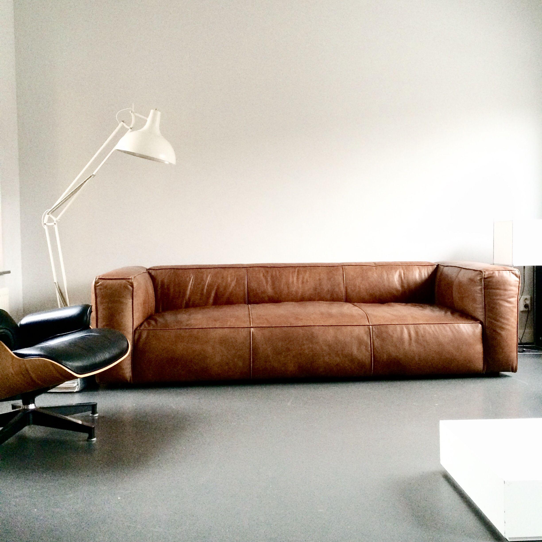 Love This Vintage Design Leather Sofa Cognac Sofa Leathersofa