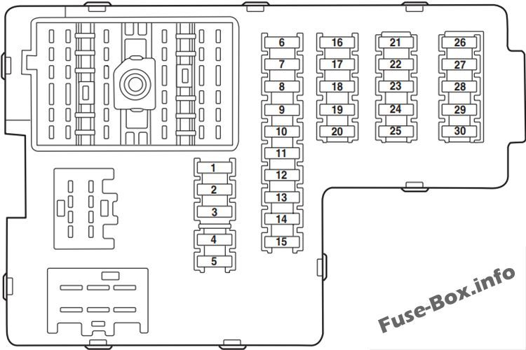 Instrument panel fuse box diagram: Ford Explorer (2003