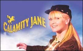 Toyah Willcox in Calamity Jane on stage in UK 2003