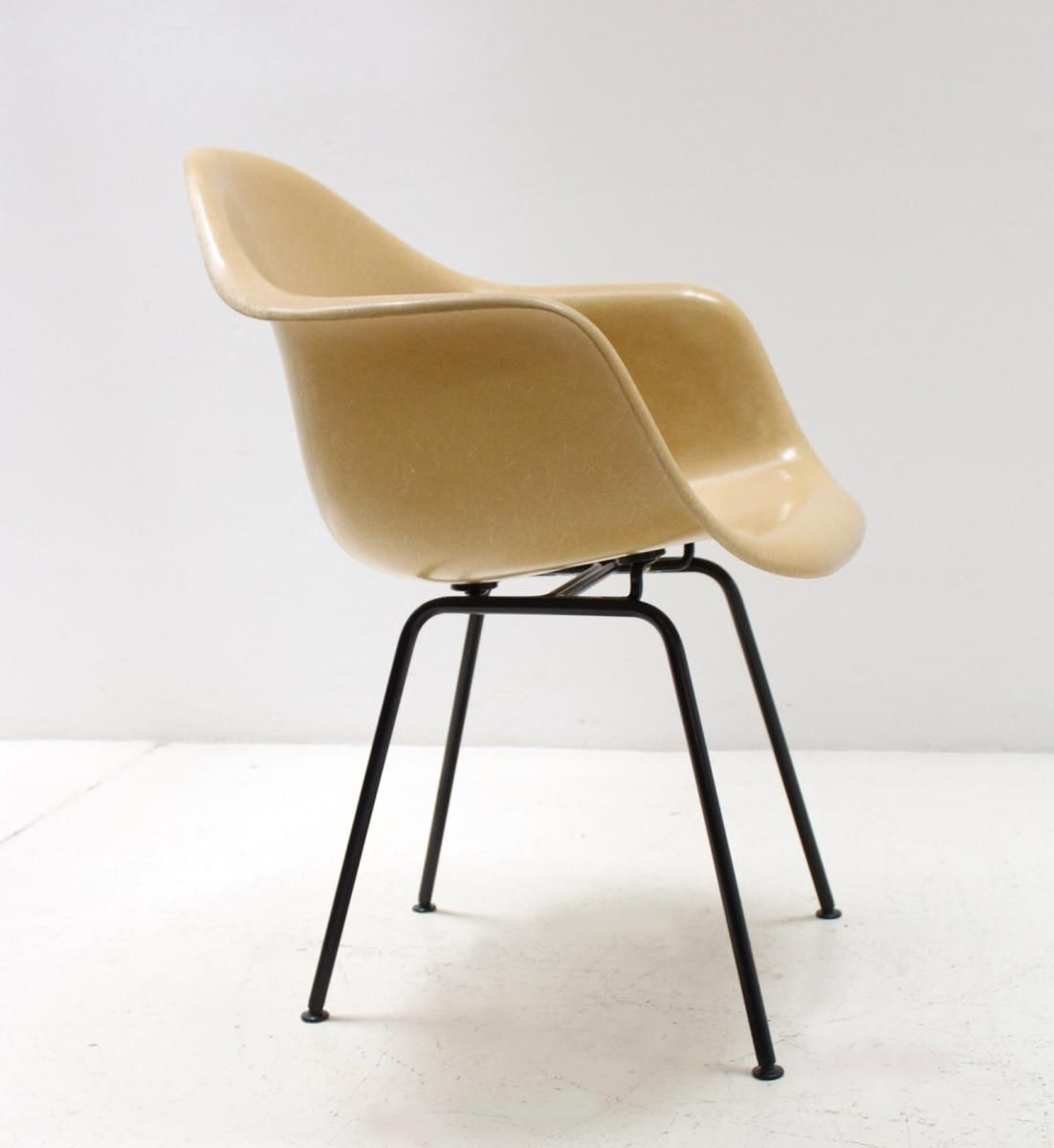 Mustard Fiberglass Armchair by Charles & Ray Eames for