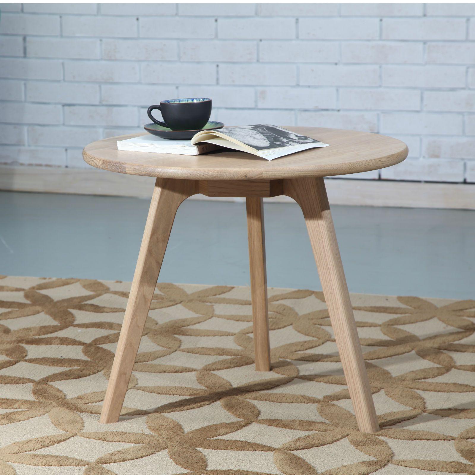 Magnus round table solid oak 60cm diameter x 50cm