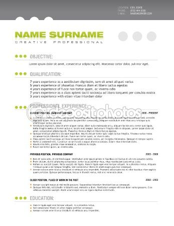Clean professional resume layout template u2014 Stock Vector #6161535 - professional resume layout