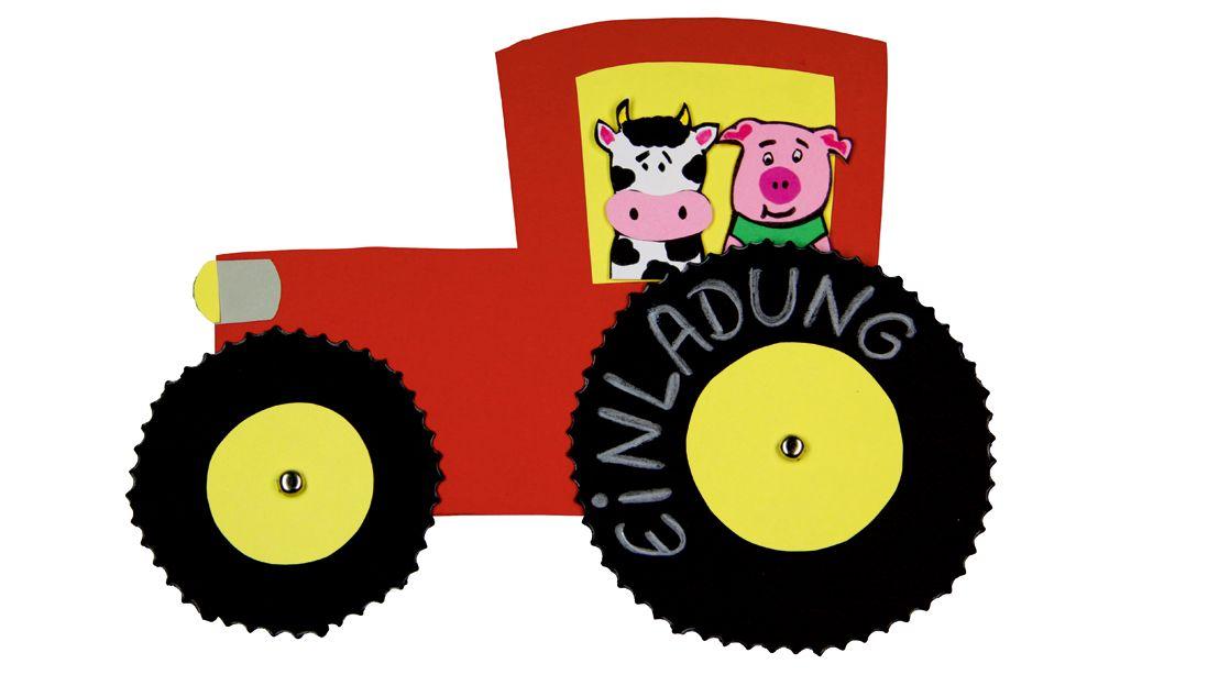 Die Besten 10+ Einladung Kindergeburtstag Basteln Traktor Ideen Auf  Pinterest