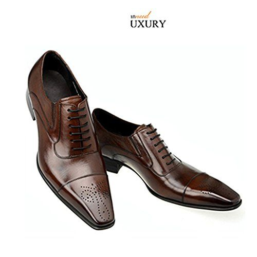 0ffdd7f76e6 men dress shoes wedding business vintage Carved Designer black italian  fashion genuine leather shoes men footwear brown 10.5
