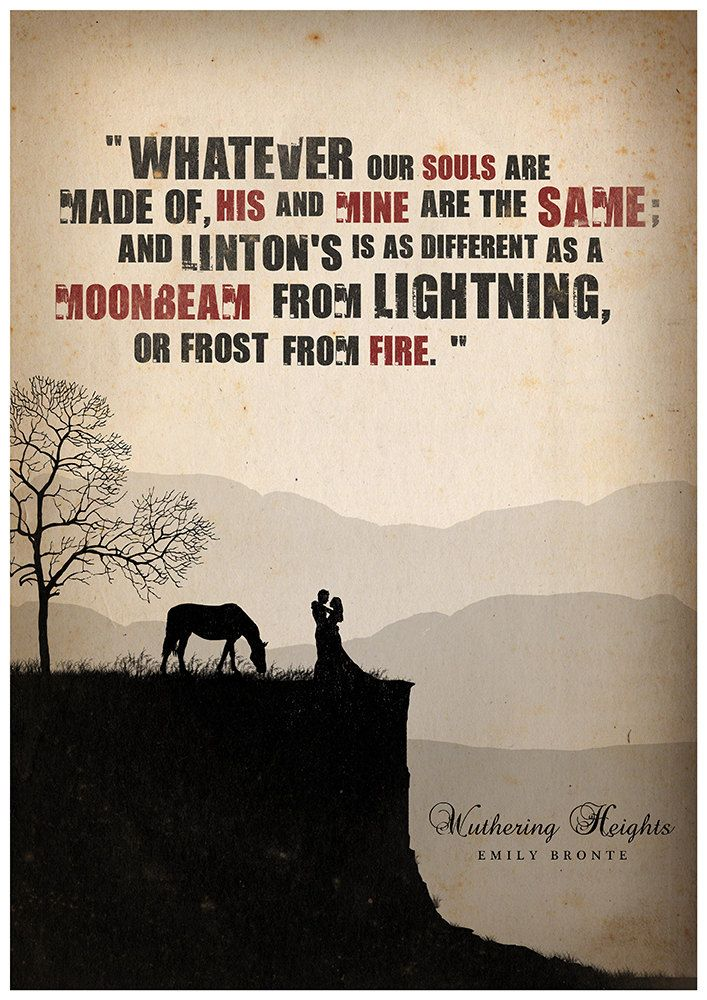 Minimalist Classroom Book ~ Wuthering heights literature poster quote by