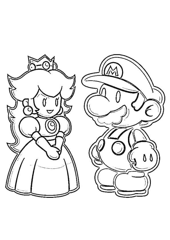 printable paper mario coloring pages