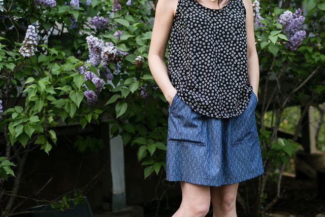 women\'s sewing patterns, women\'s tank pattern, women\'s skirt pattern ...