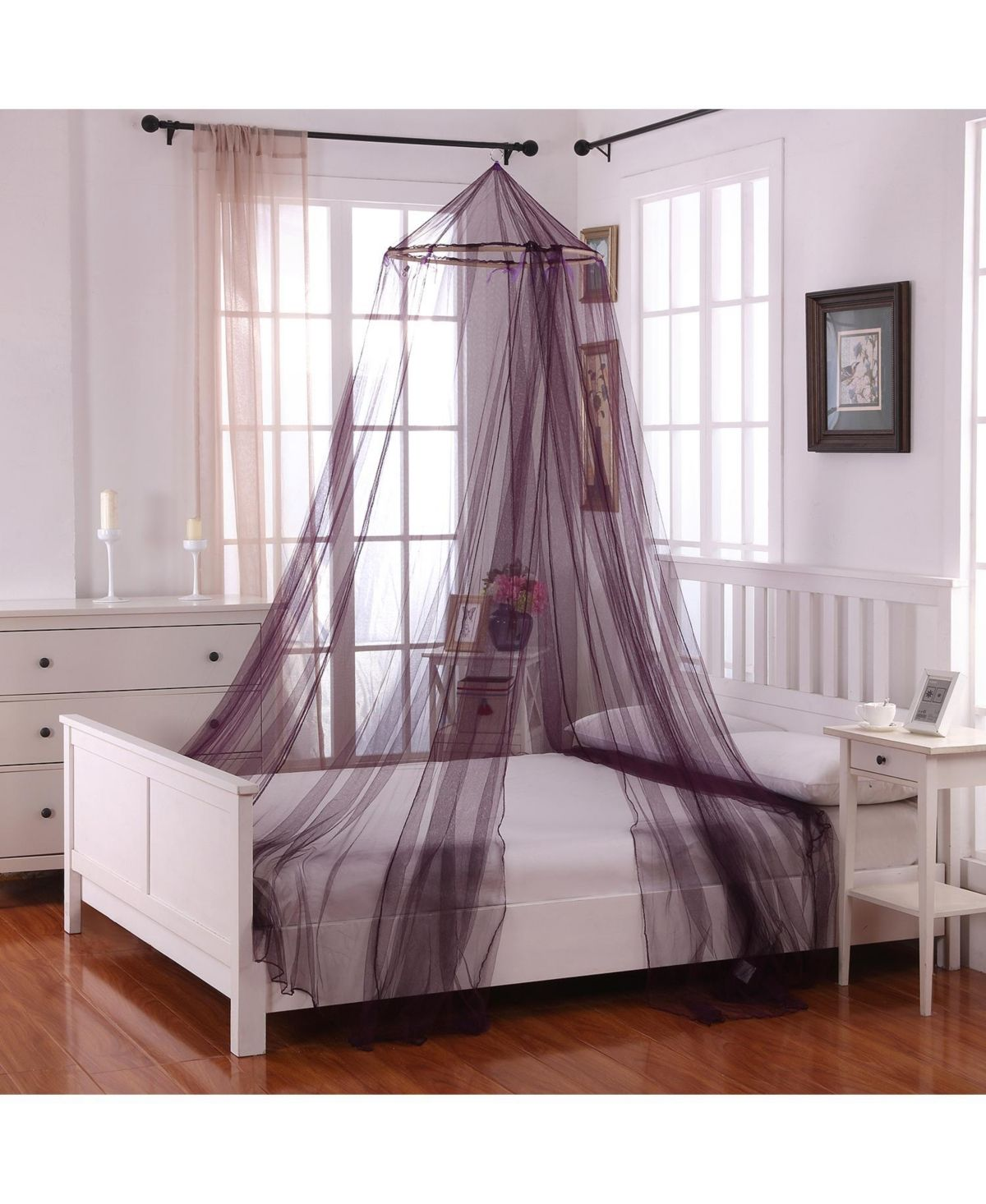 Epoch Hometex Inc Cottonloft Oasis Round Hoop Sheer Mosquito Net