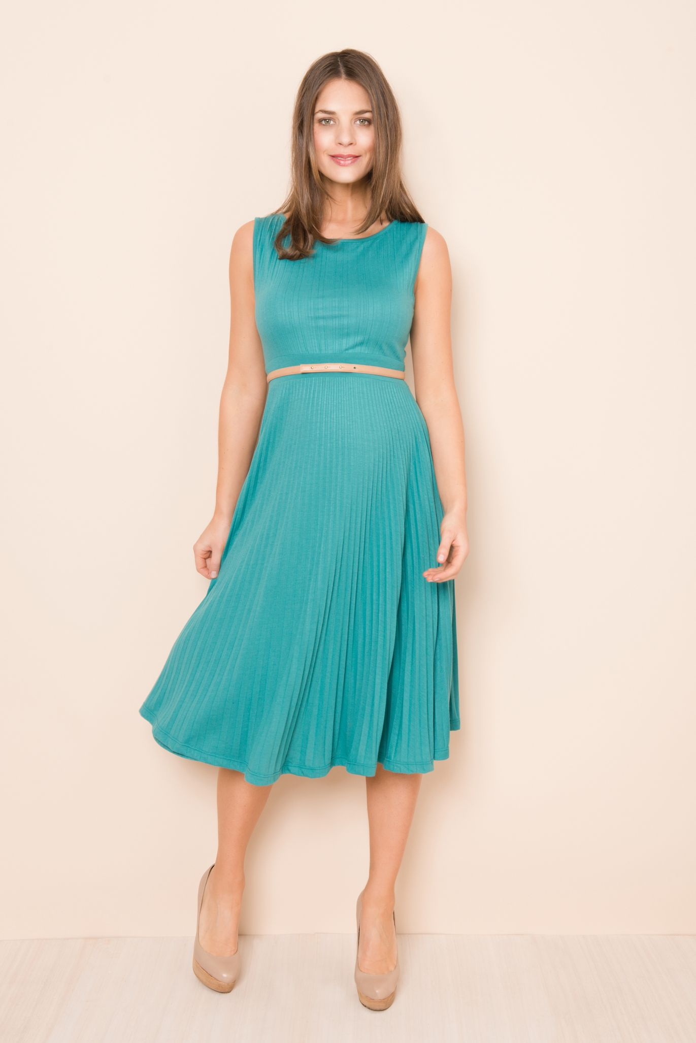 Knife Pleat Dress. Simple cute stylish maternity d… | Trends for ...
