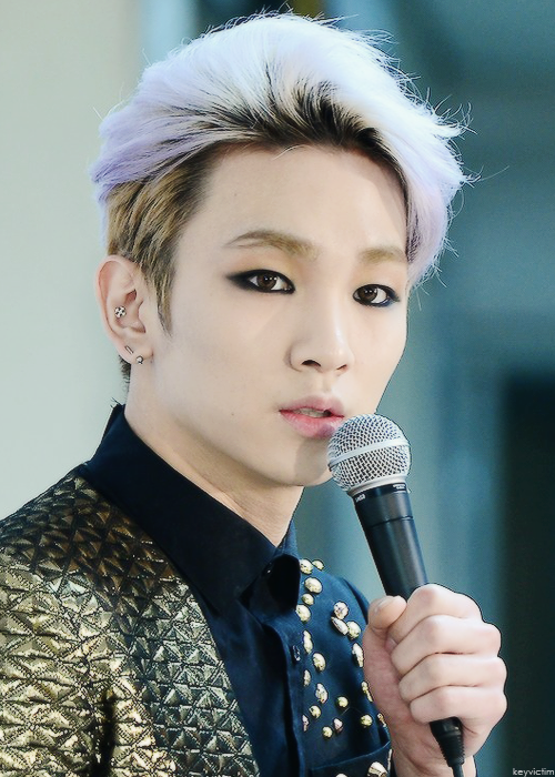 #SHINee #Key with pastel purple hair !