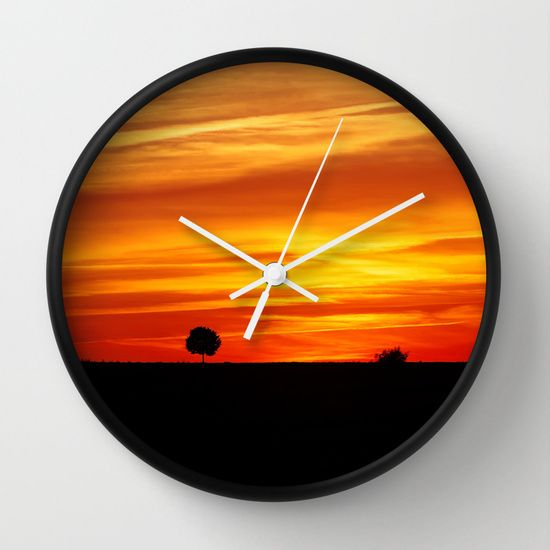 Dramatic Sundown Wall Clock #posters #artworks #graphic Design #texture # Inspiration #artists #stretched Canvas #illustrations #room #products # Pretty ...