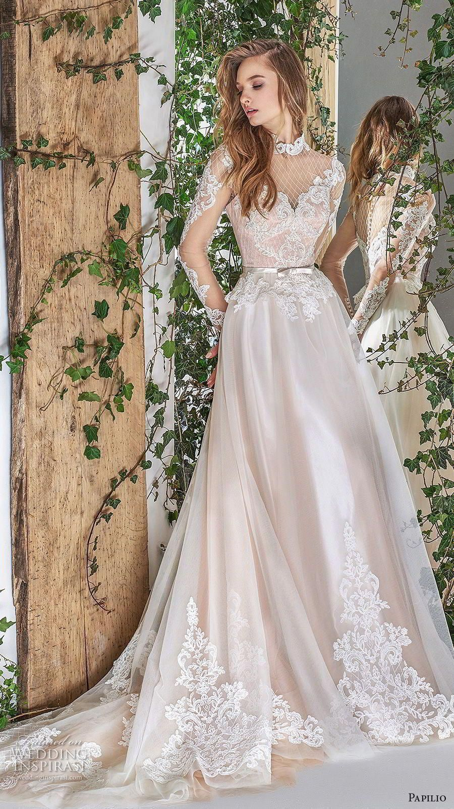 papilio 2018 bridal long sleeves illusion high neck sweetheart neckline heavily embellished bodice hem romantic a line wedding dress sheer button back chapel train (6) mv -- Papilio 2018 Wedding Dresses | Wedding Inspirasi #wedding #weddings #bridal     Source by fornevercm #Bridal #Collection #Dresses #fashion dresses wedding #Inspirasi #Papilio #Wedding #Wonderland #fashion #style #love #instagood #like #ootd #moda #fashionblogger #model #photography #ph #fashionweddingdress