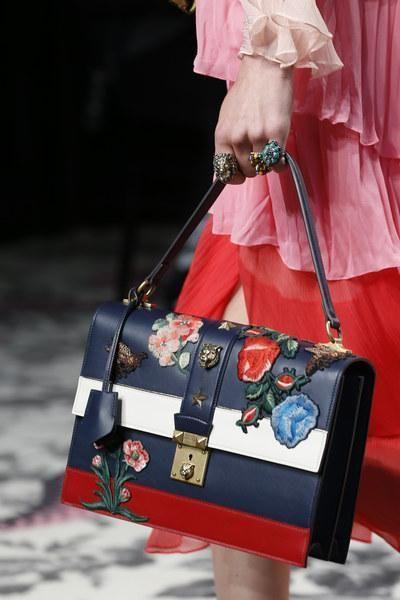 Mix of Floral + Stripes, Gucci Bag