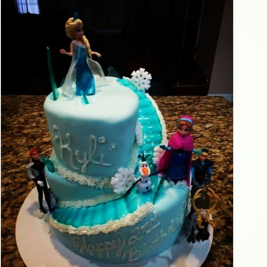 Frozen desserts cake birthday cake