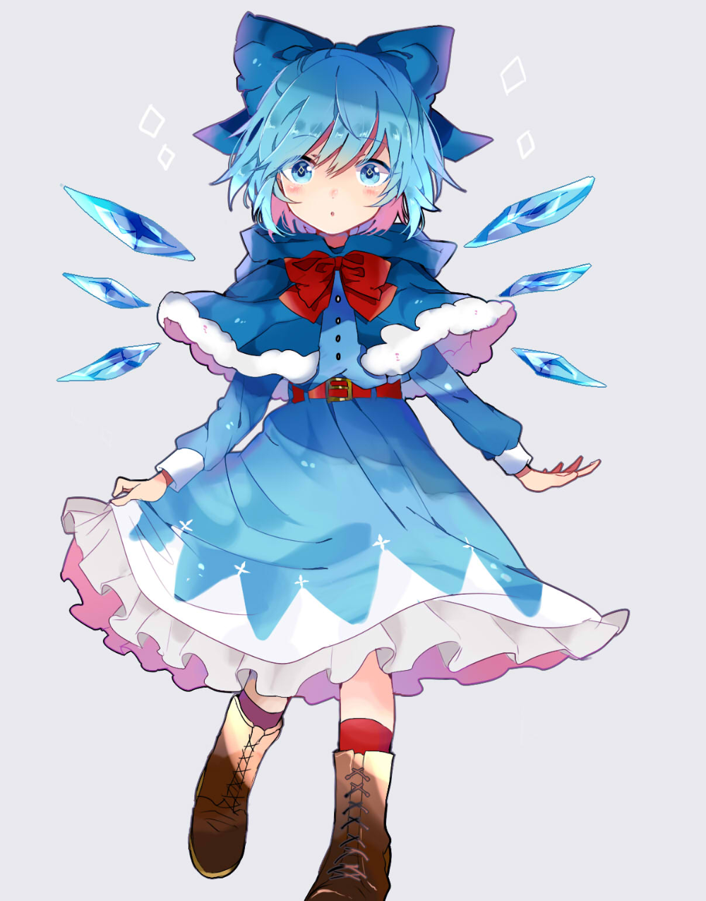 touhou project touhou chirno pixiv 東方 かわいい イラスト キャラクターデザイン