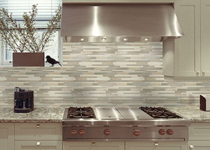 mosiac tile backsplash | Watercolours Glass Mosaic Kitchen Tile Backsplash