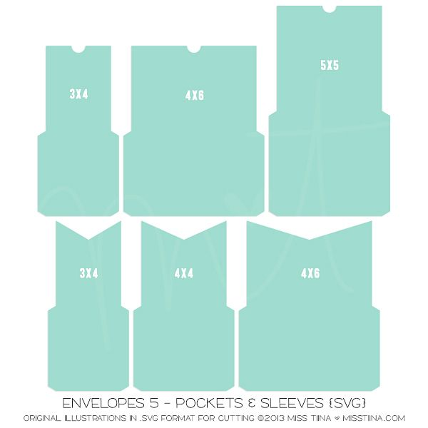 Envelopes 5 - Pockets & Sleeves {SVG}