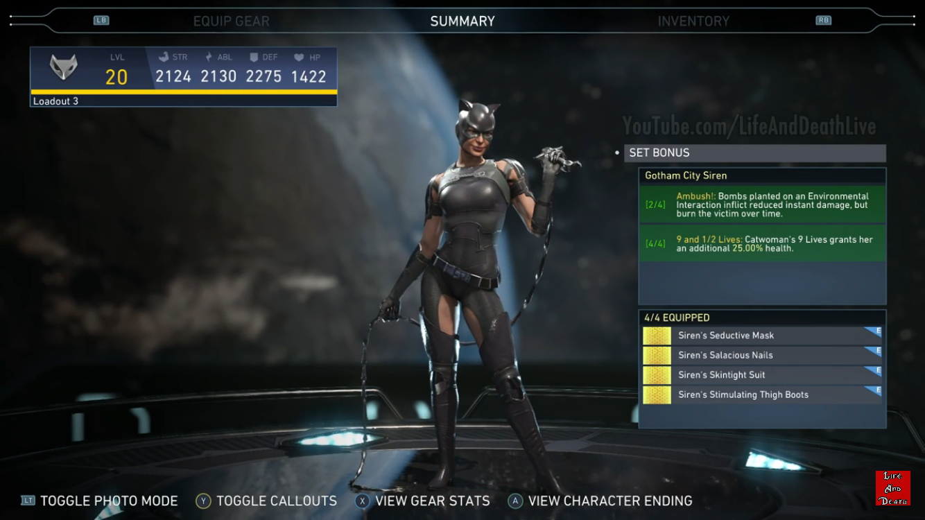 Catwoman's 'Gotham City Siren' Epic Gear set | Injustice 2