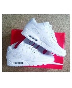 Nike Air Max 90 Womens Mens Shoes Hyperfuse All White  c32f2496f8