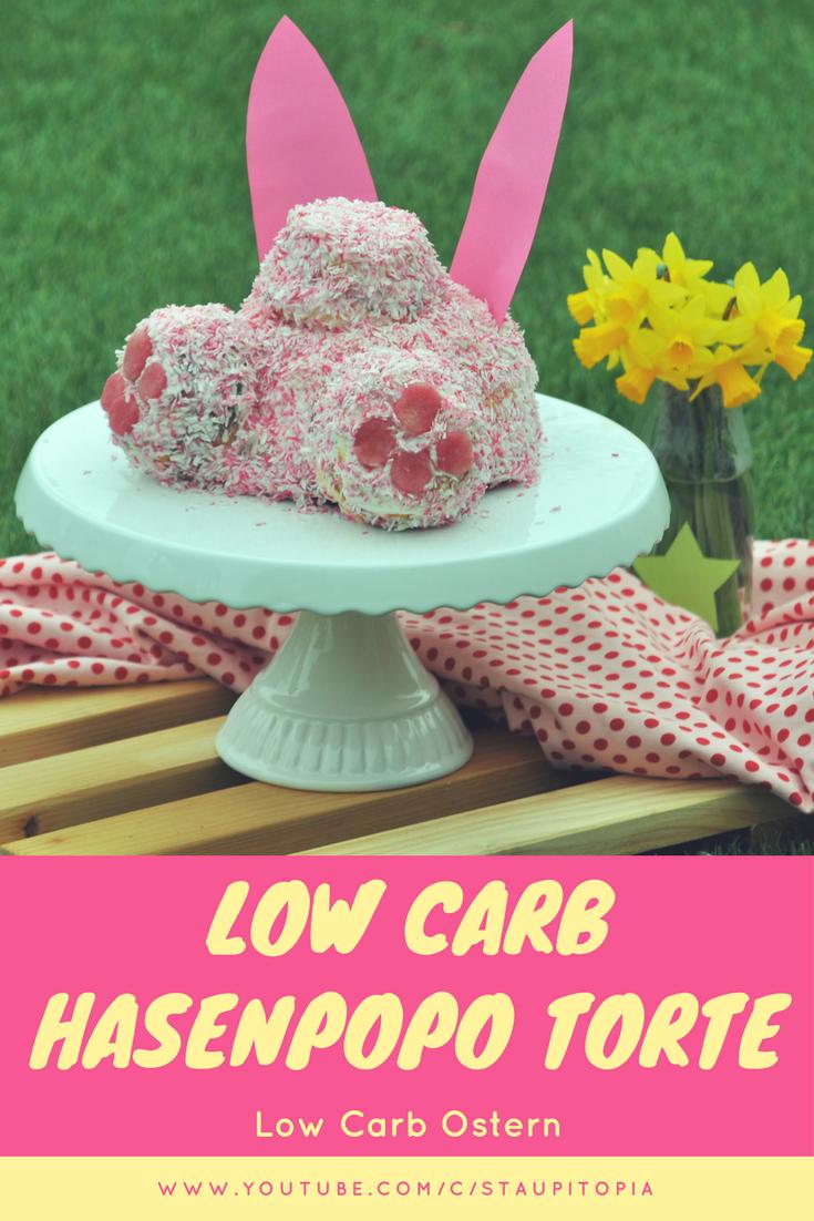 Diese Low Carb Torte für Ostern könnt ihr ruhigen Gewissens genießen. Dazu ist die niedliche Low Carb Hasenpopo Torte bestimmt ein echter Hingucker auf jedem Osterfest. Kuchen und Torten können auch ohne Zucker und Mehl richtig lecker schmecken ;-) Probiert es unbedingt mal aus!