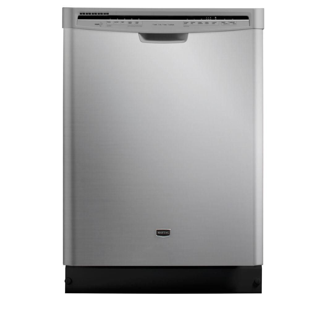 Maytag jetclean plus front control dishwasher in monochromatic stainless steel with steam cleaning mdbh949pam at