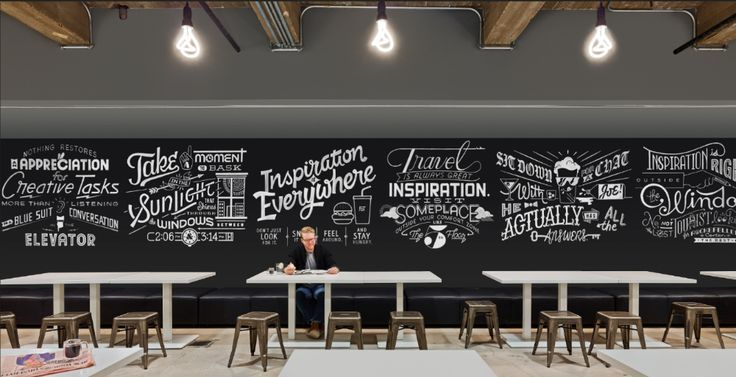 Bbdo mural cafewall assemblage wall graphics