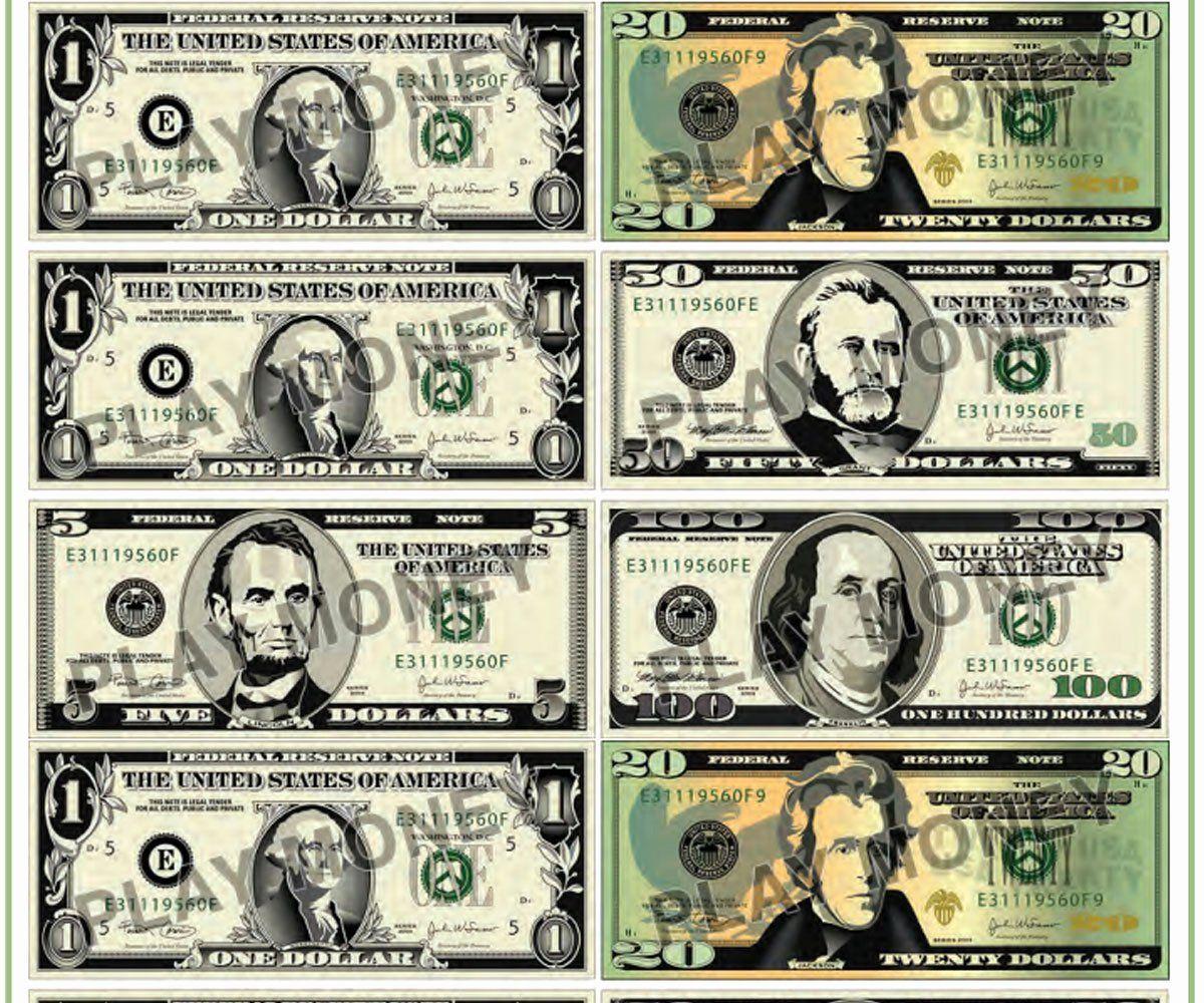 Fake Dollar Bill Printable Beautiful Free Printable