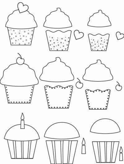 Foami Molde Manualidades Felt Crafts Applique Templates Cupcake Template