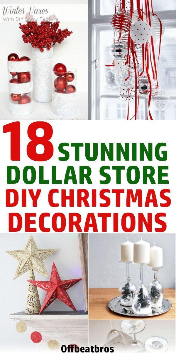18 atemberaubende DIY Dollar Store Weihnachtsdekoration Ideen #dollarstorechristmascrafts