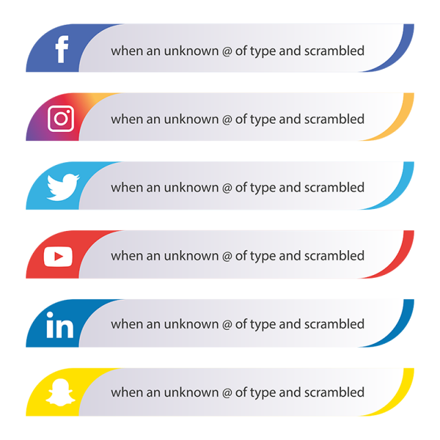 Social Media Icons Set, Media, Set, Social PNG and Vector