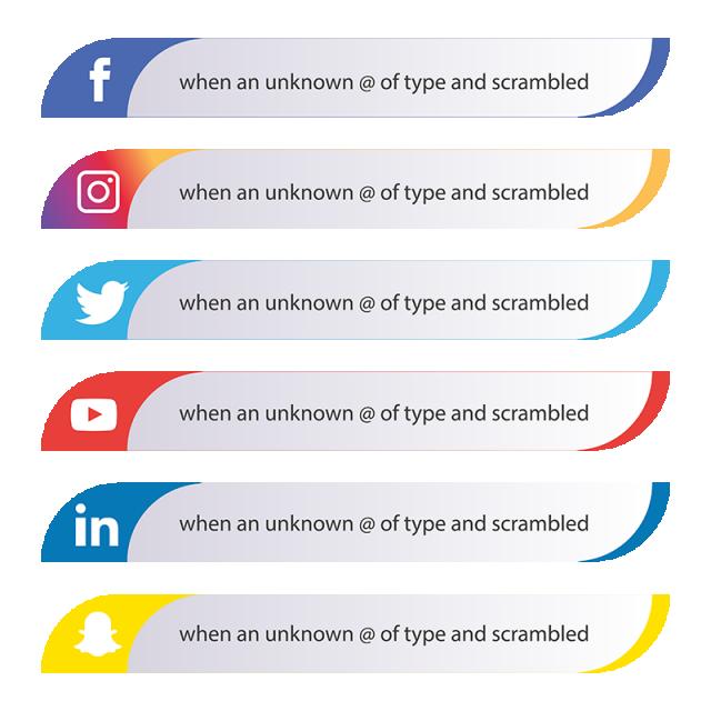 Social Media Icons Set, Media, Set, Social PNG and Vector