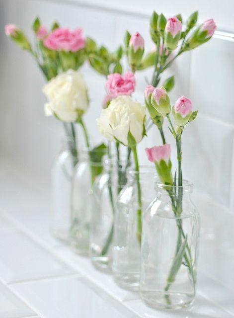 Bottles Vase Flower Arrangements Simple Beautiful Flowers Flower Arrangements