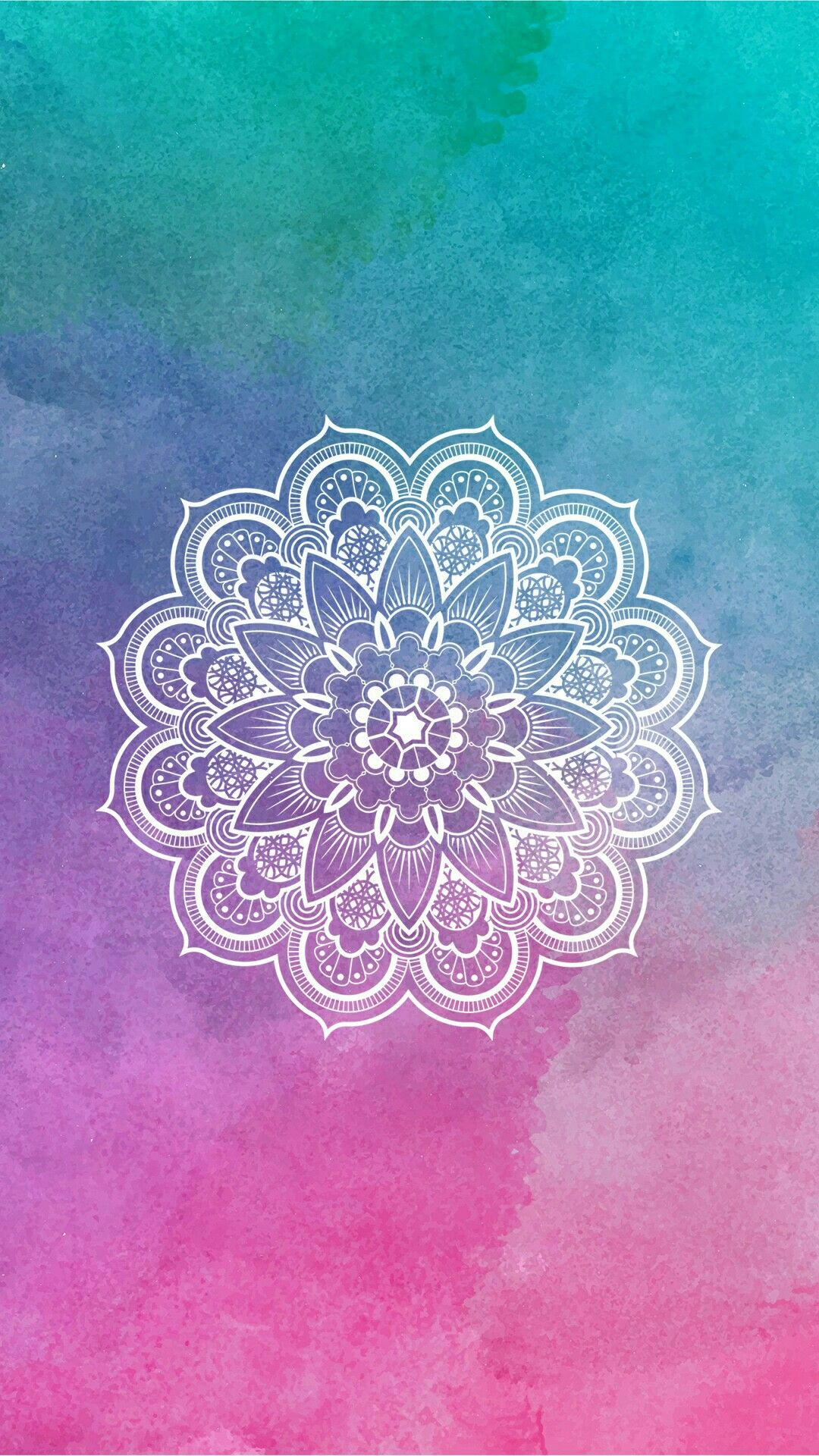 Mandala Wallpaper lockscreen colorido Fondos para iphone