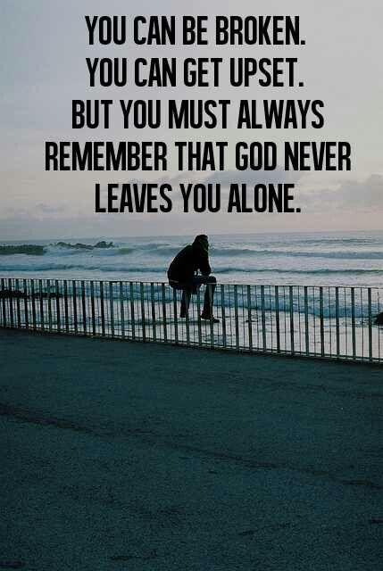 Always Beside You Even When You Dont Think So God Loves Us