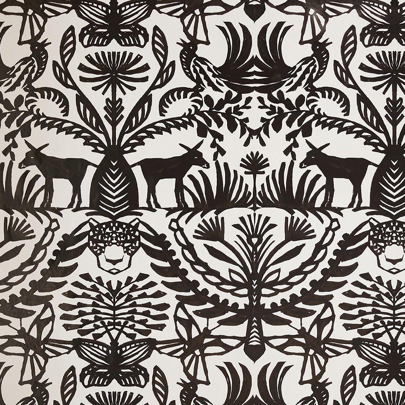 Eulalia Peel Stick Wallpaper White Black Opalhouse Removable Wallpaper Peel And Stick Wallpaper Opalhouse